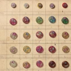 Ghastlie button magnet card on Italian paper Blank inside .