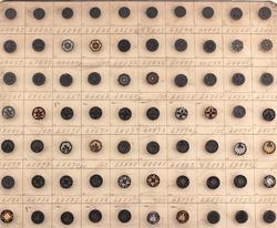 i original card Nouveaut\u00e9 square grey design Set of 12 medium antique shell buttons